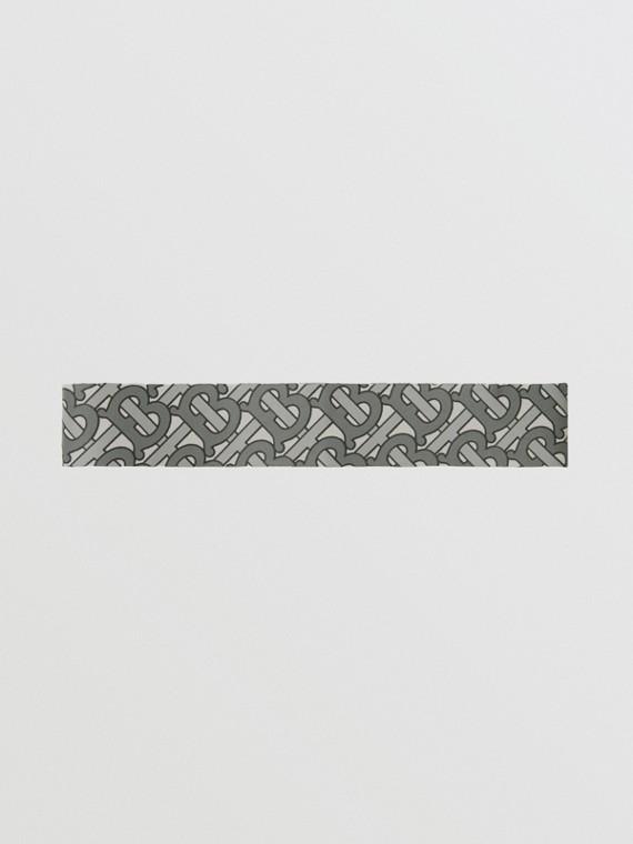 Fascia per capelli con stampa monogramma (Grigio Medio)