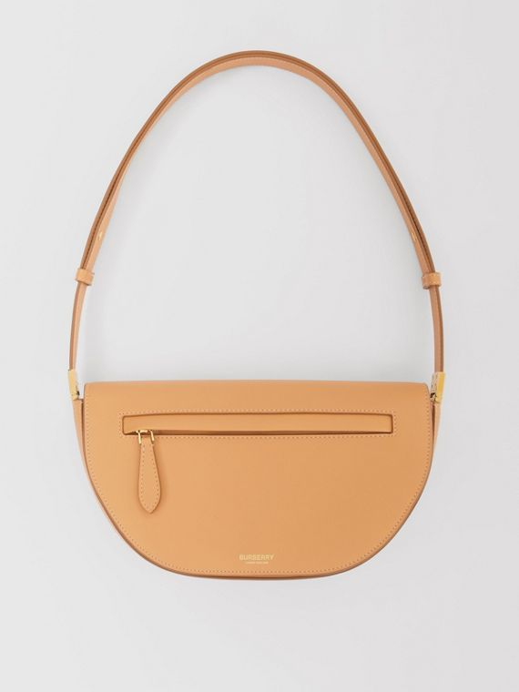 Small Leather Olympia Bag in Warm Sand