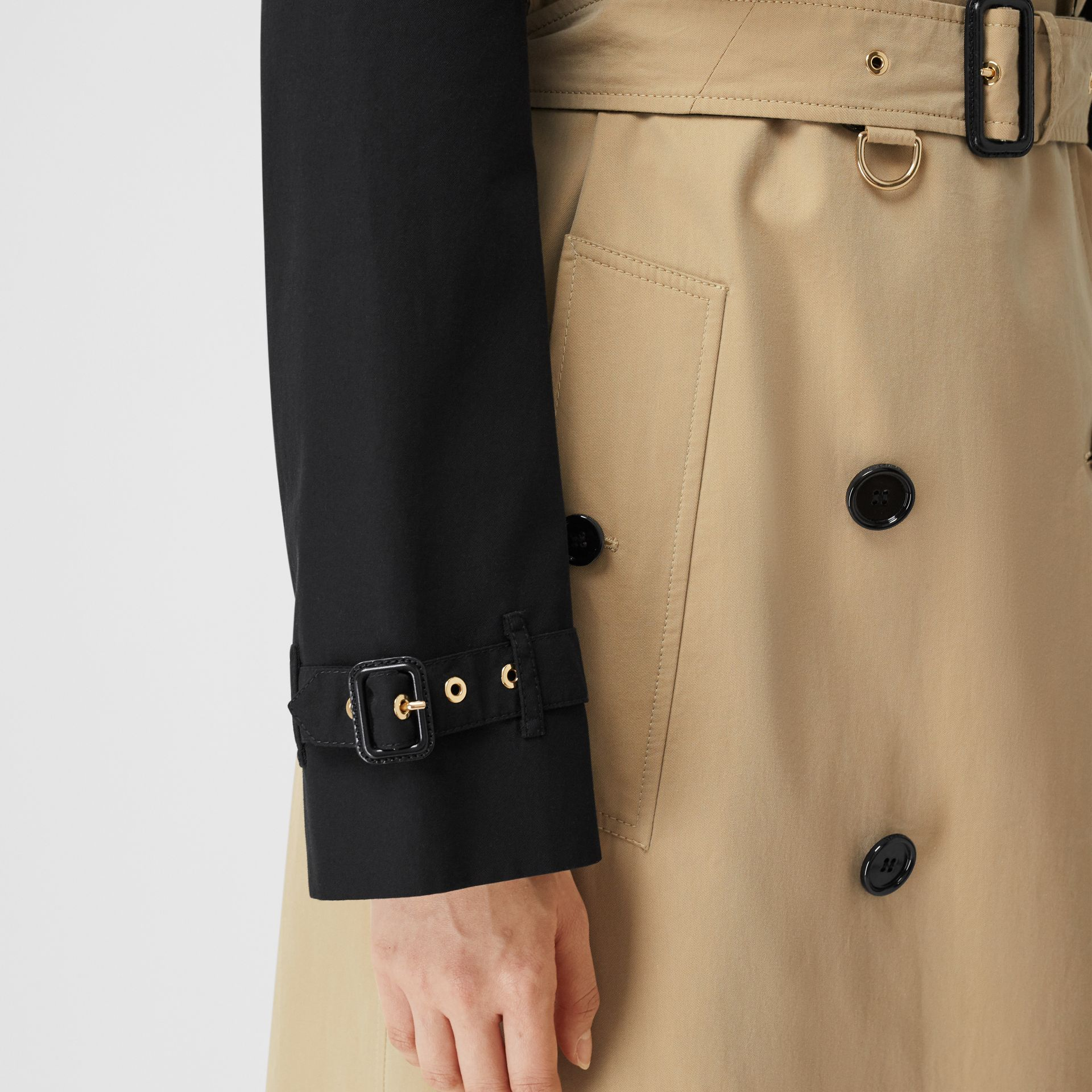 Two-tone Reconstructed Trench Coat in Black - Women | Burberry United Kingdom - gallery image 4