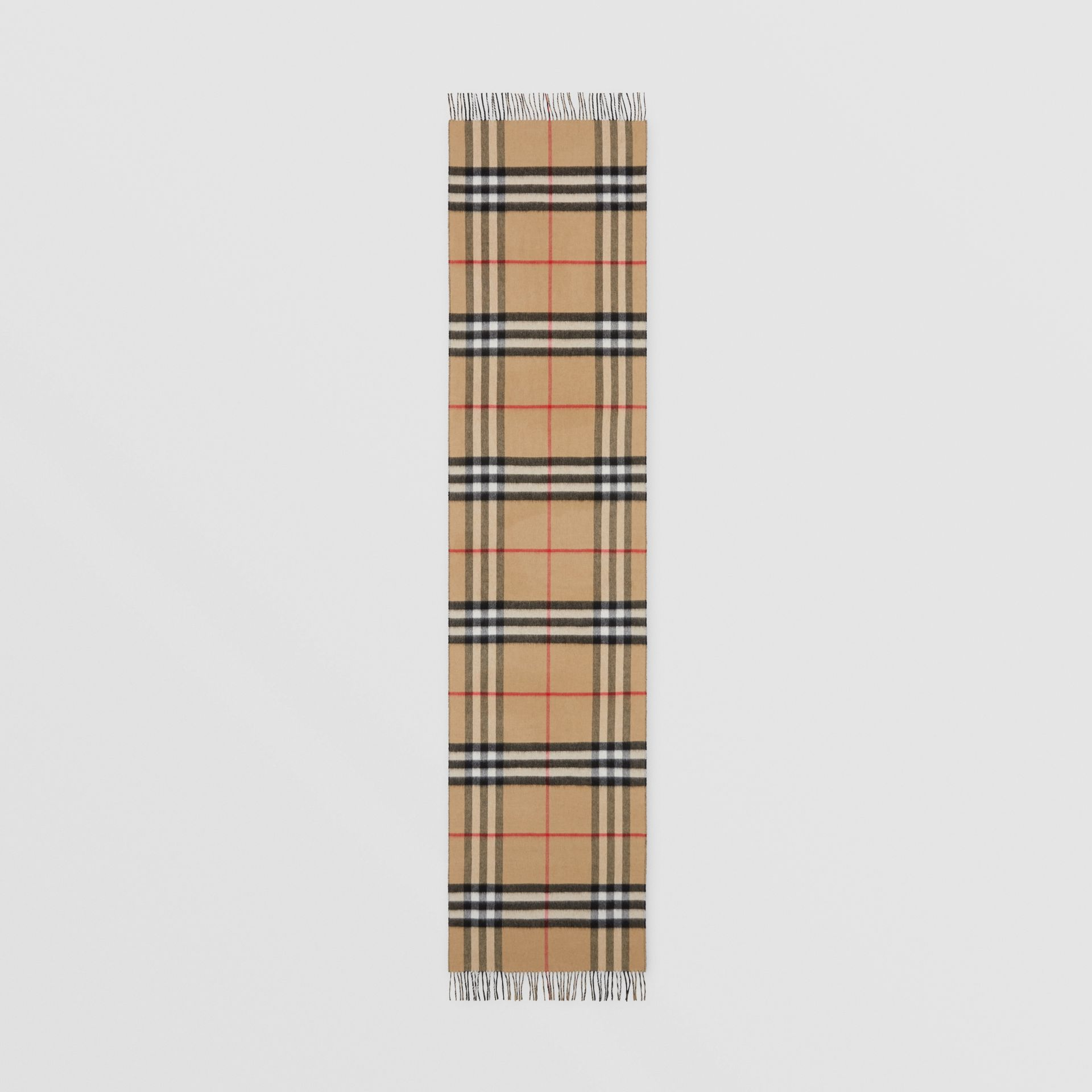 Reversible Check Cashmere Scarf in Black | Burberry - gallery image 5