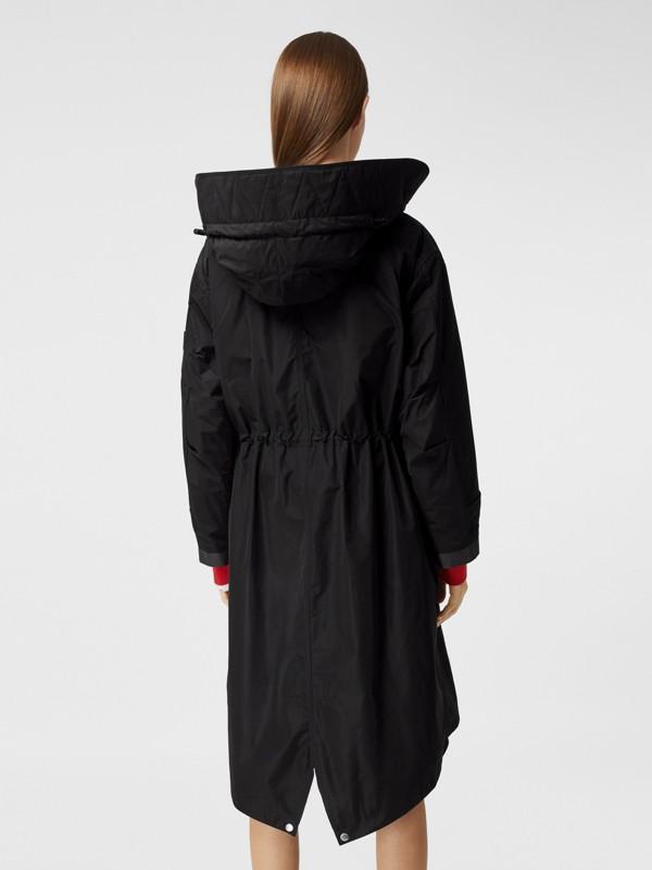 Parka en taffetas à mémoire de forme avec capuche amovible (Noir) - Femme | Burberry - cell image 2