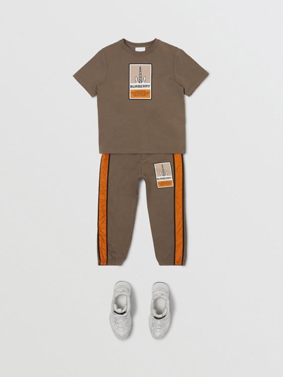 ロゴグラフィックプリント コットンTシャツ (スモーク)