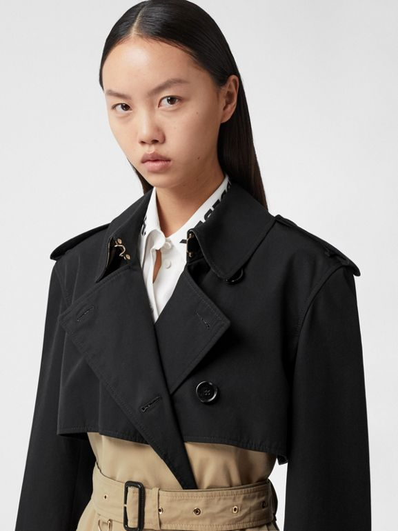 Two-tone Reconstructed Trench Coat in Black - Women | Burberry United Kingdom - cell image 1