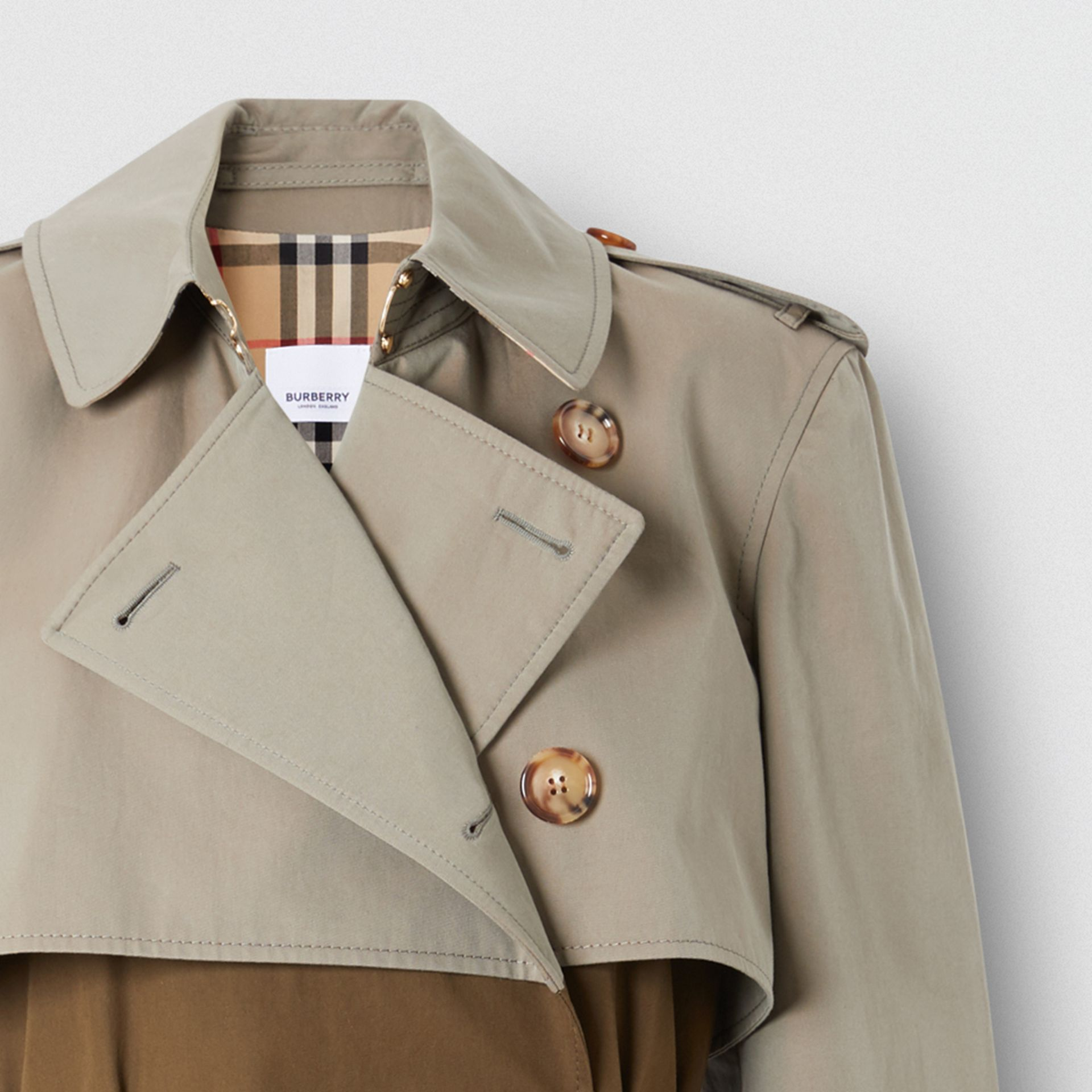 Two-tone Reconstructed Trench Coat - Women | Burberry - gallery image 1