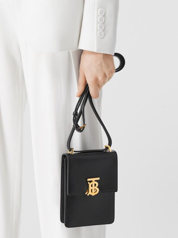 Leather Robin Bag in Black - Women | Burberry Australia - cell image 2