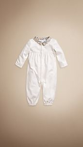 Check Collar Convertible Sleep and Playsuit