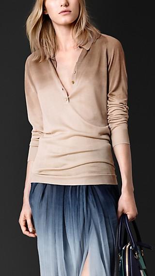 Dégradé Silk Polo Shirt