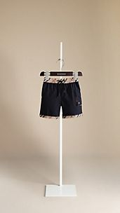 Check Trim Swim Shorts