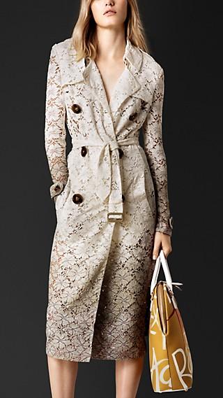 Dégradé Lace Trench Coat