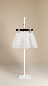 Gathered Cotton Skirt