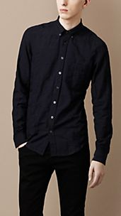Check Jacquard Shirt