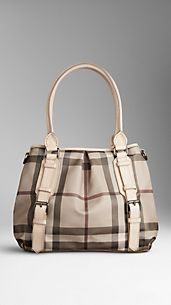 Borsa tote Smoked check piccola