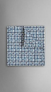 Painted Check Pocket Square