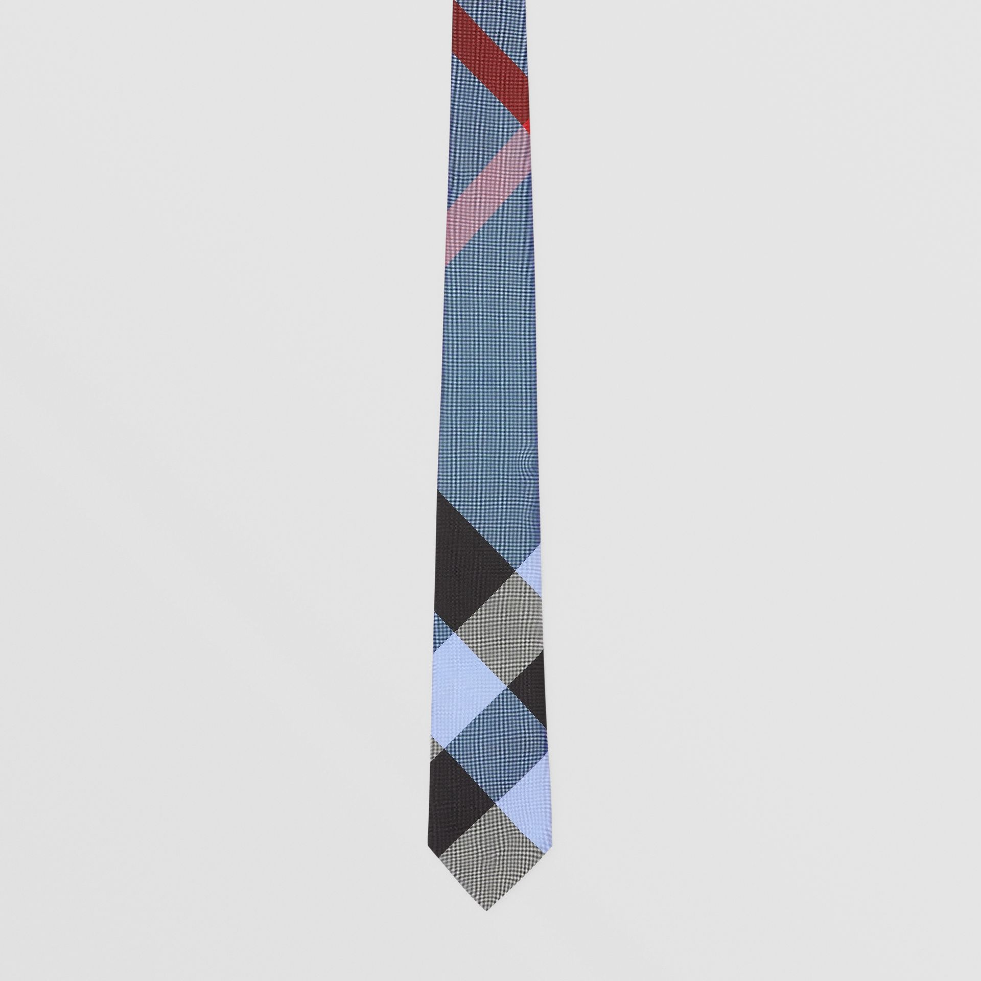 Classic Cut Check Silk Jacquard Tie in Bright Steel Blue | Burberry United Kingdom - gallery image 3