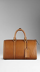Ostrich Leather Holdall