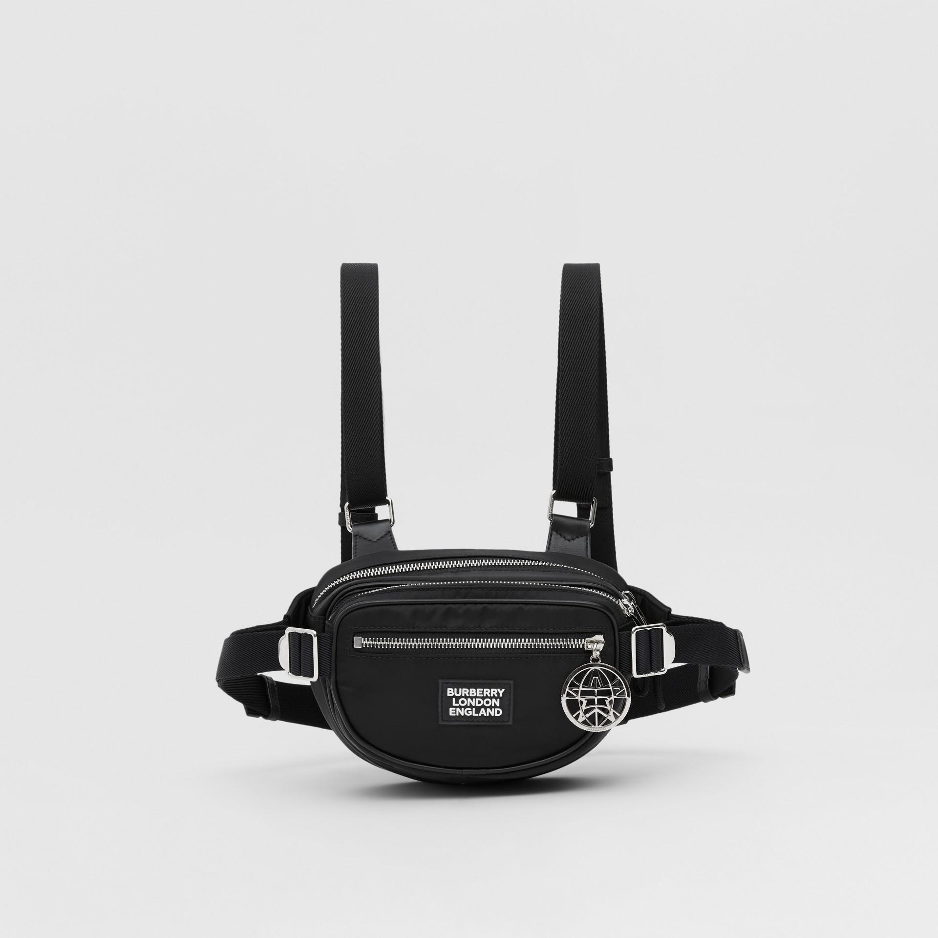 Logo Appliqué ECONYL® Cannon Belt Pack in Black | Burberry - gallery image 0
