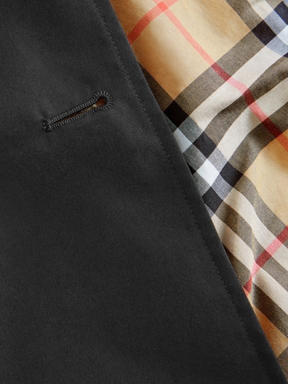 Trench coat de gabardine de algodão (Preto) | Burberry - cell image 1