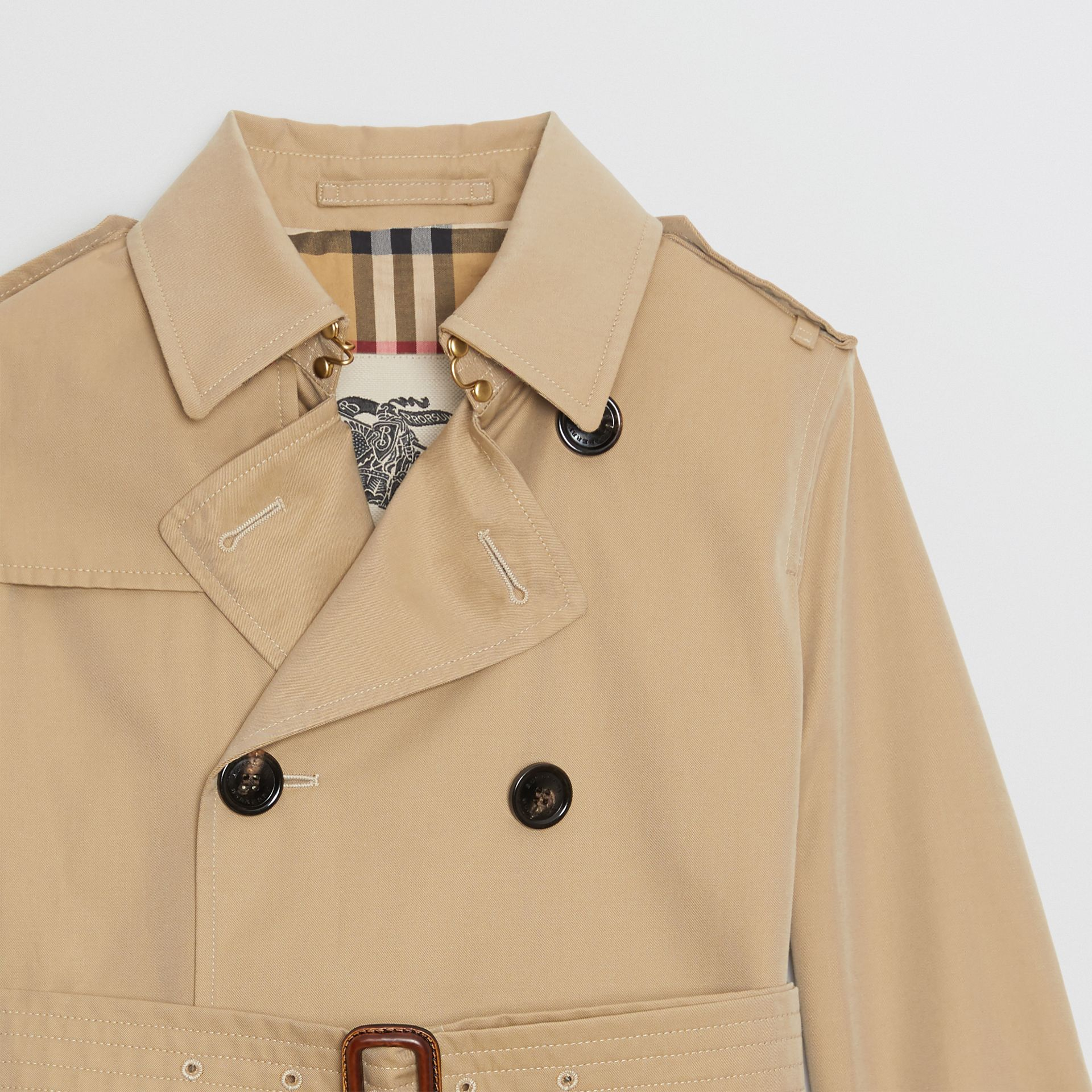 Cotton Gabardine Trench Coat in Honey | Burberry Singapore - gallery image 3