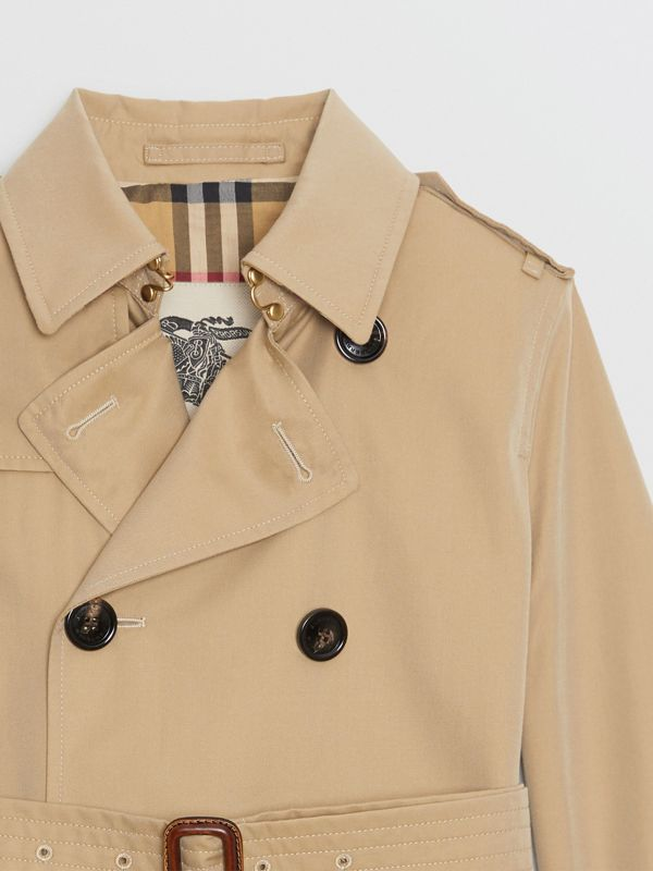 Cotton Gabardine Trench Coat in Honey | Burberry - cell image 3