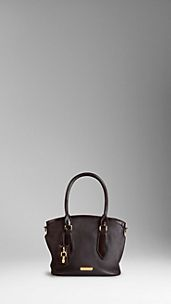 Small London Grainy Leather Tote Bag