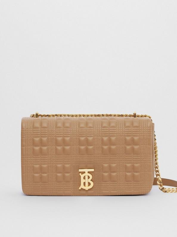 Medium Quilted Lambskin Lola Bag in Camel/light Gold