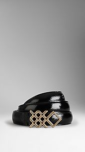 London Leather Buckle Belt