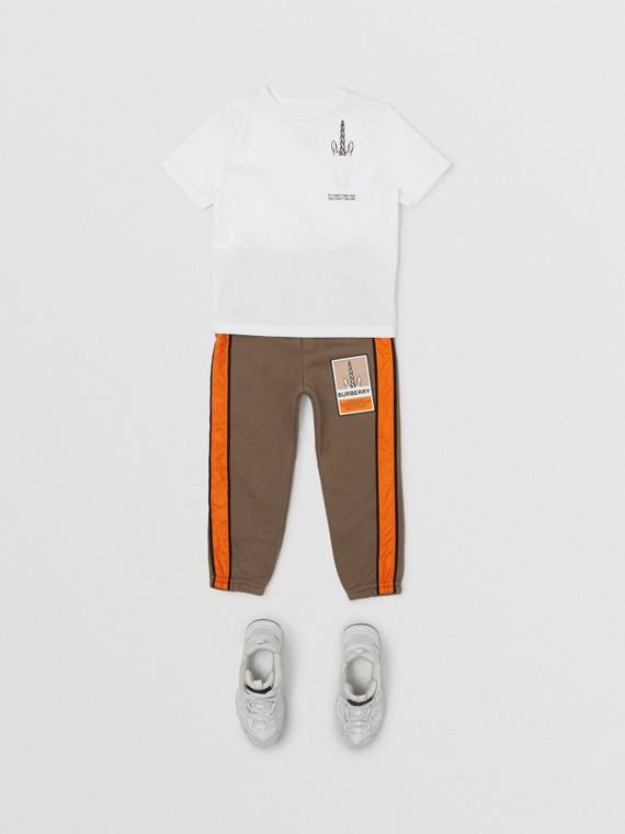 ユニコーン スローガンプリント コットンTシャツ (ホワイト)