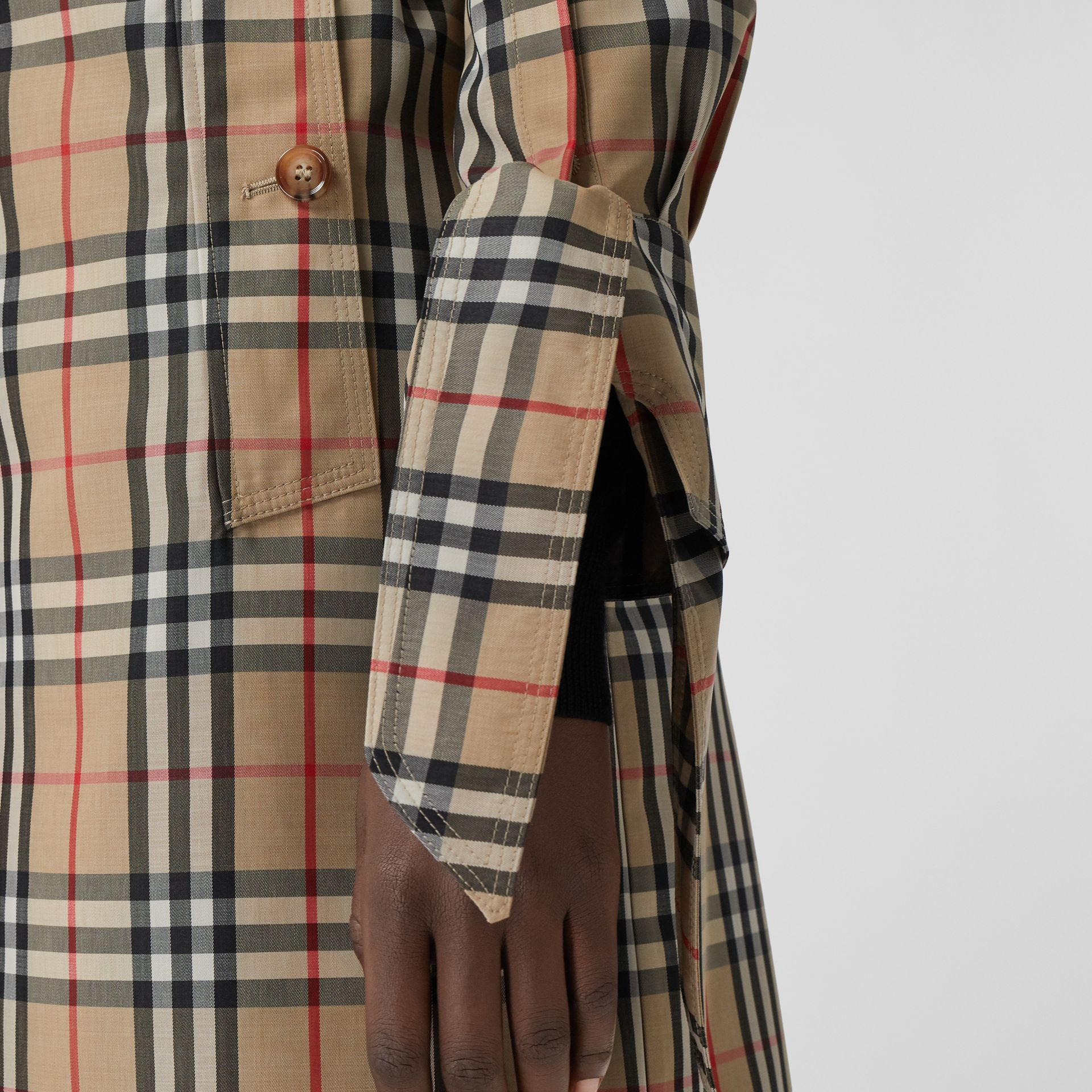 Vintage Check Recycled Polyester Car Coat - Women | Burberry - gallery image 1