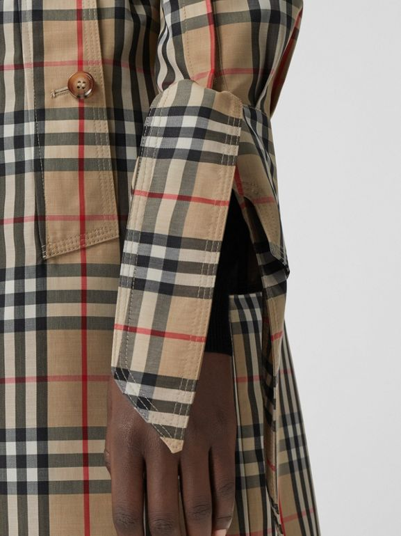 Vintage Check Recycled Polyester Car Coat - Women | Burberry - cell image 1
