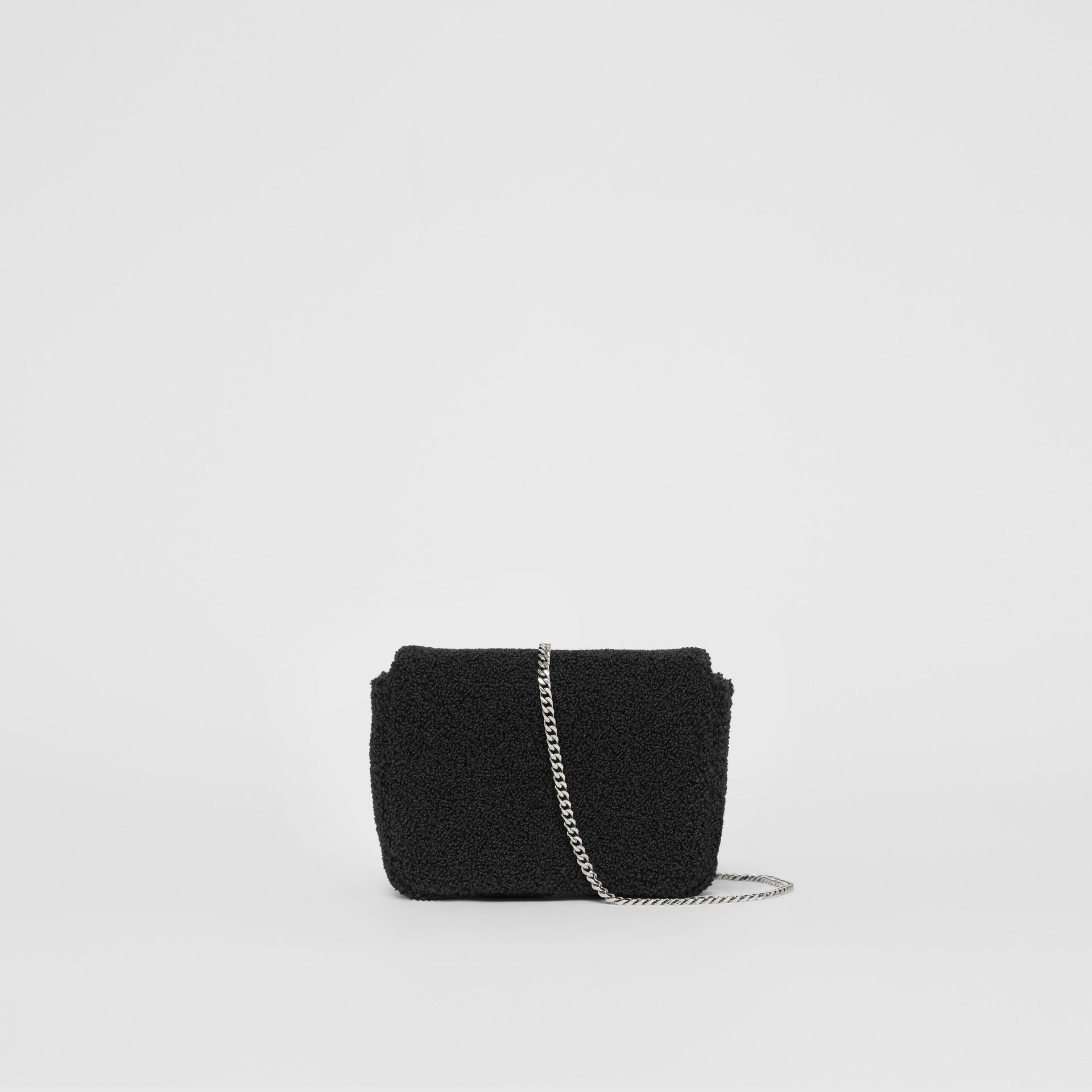 Micro Love Motif Towelling Lola Bag in Black - Women | Burberry - gallery image 8