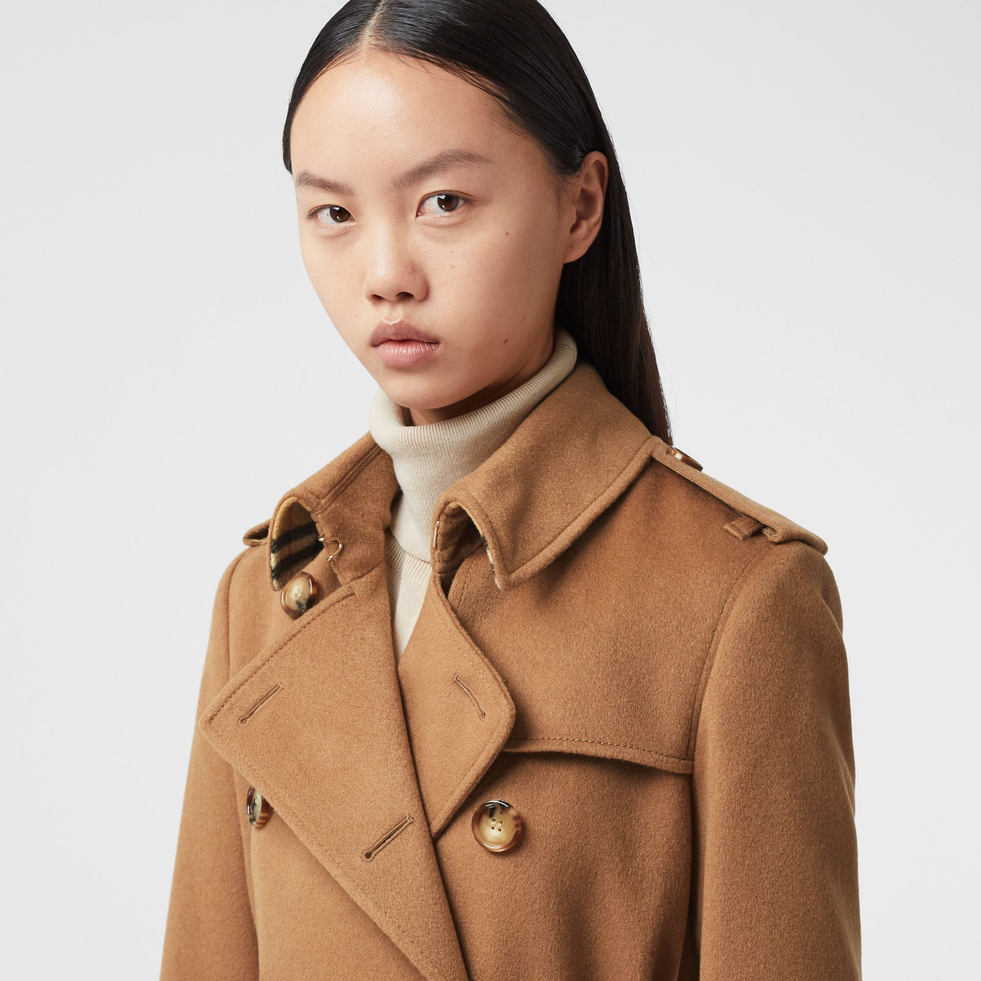 Cashmere Trench Coat in Bronze - Women | Burberry - gallery image 1