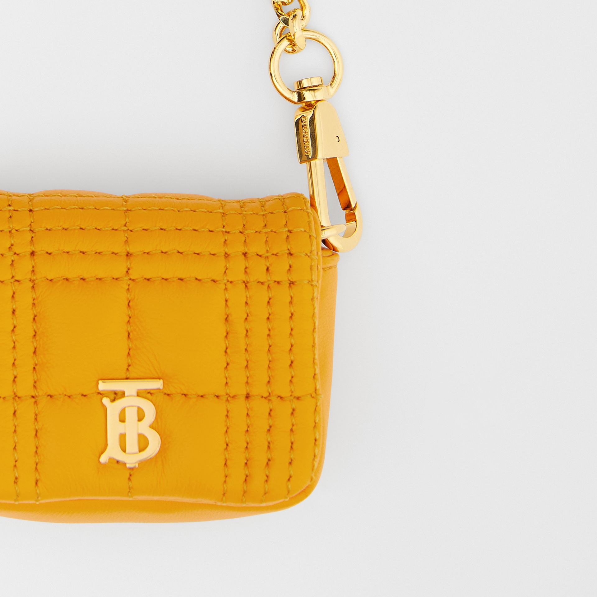 Quilted Lambskin AirPods Pro Case in Citrus Orange - Women | Burberry Australia - gallery image 1