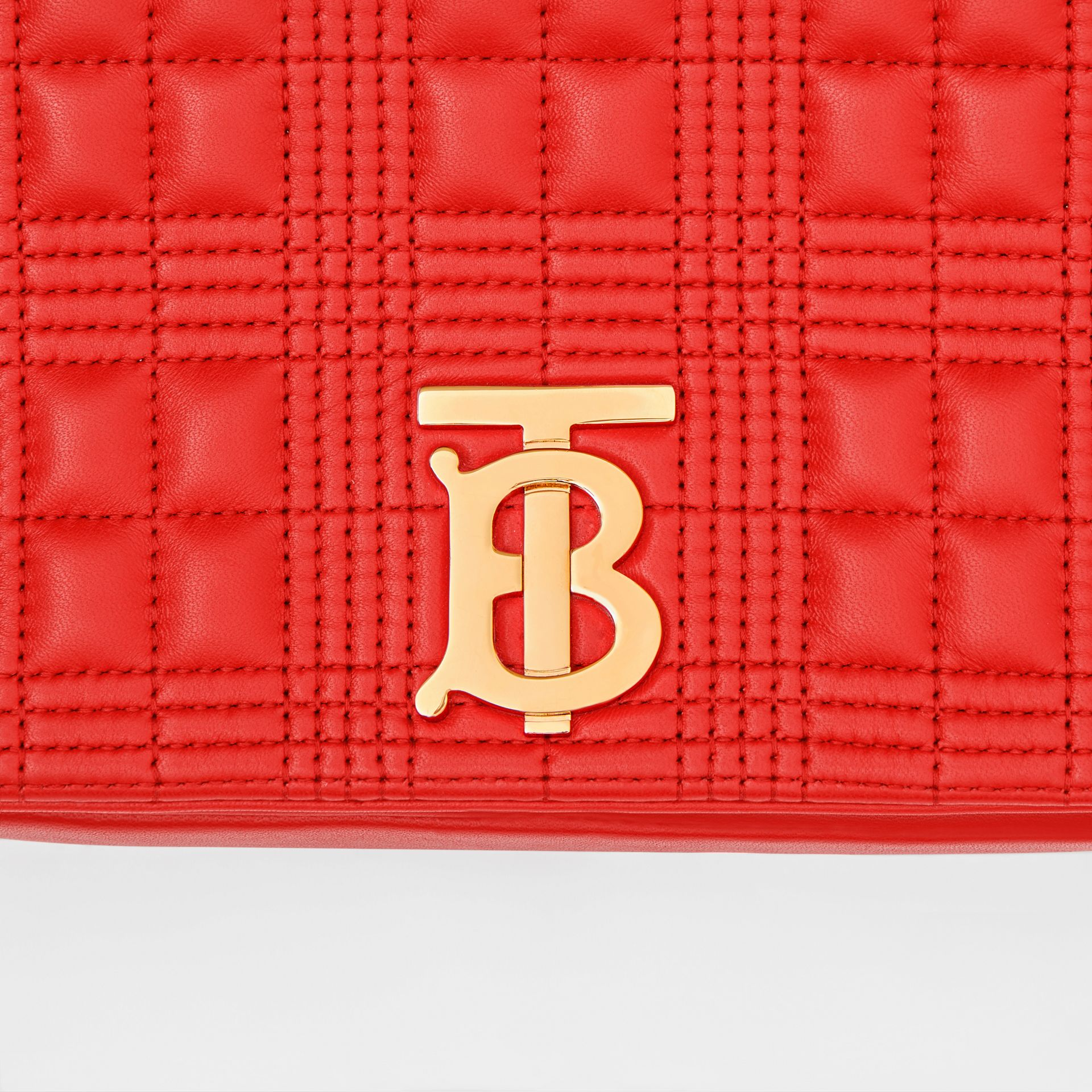 Small Quilted Lambskin Lola Bag in Bright Red - Women | Burberry - gallery image 1