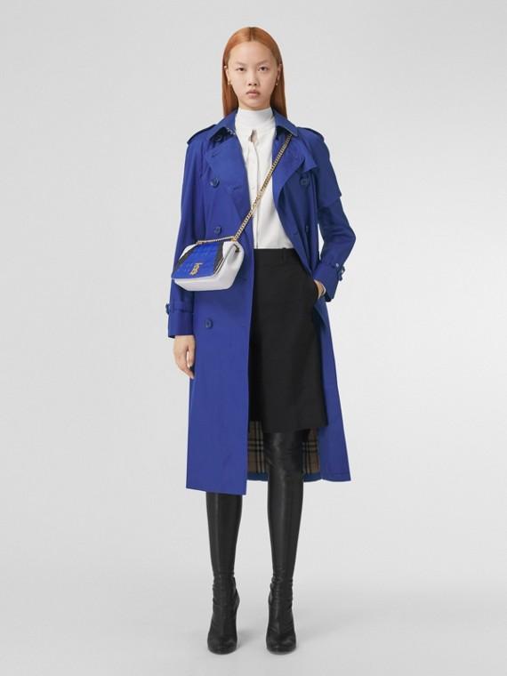 Cotton Gabardine Trench Coat in Oceanic Blue