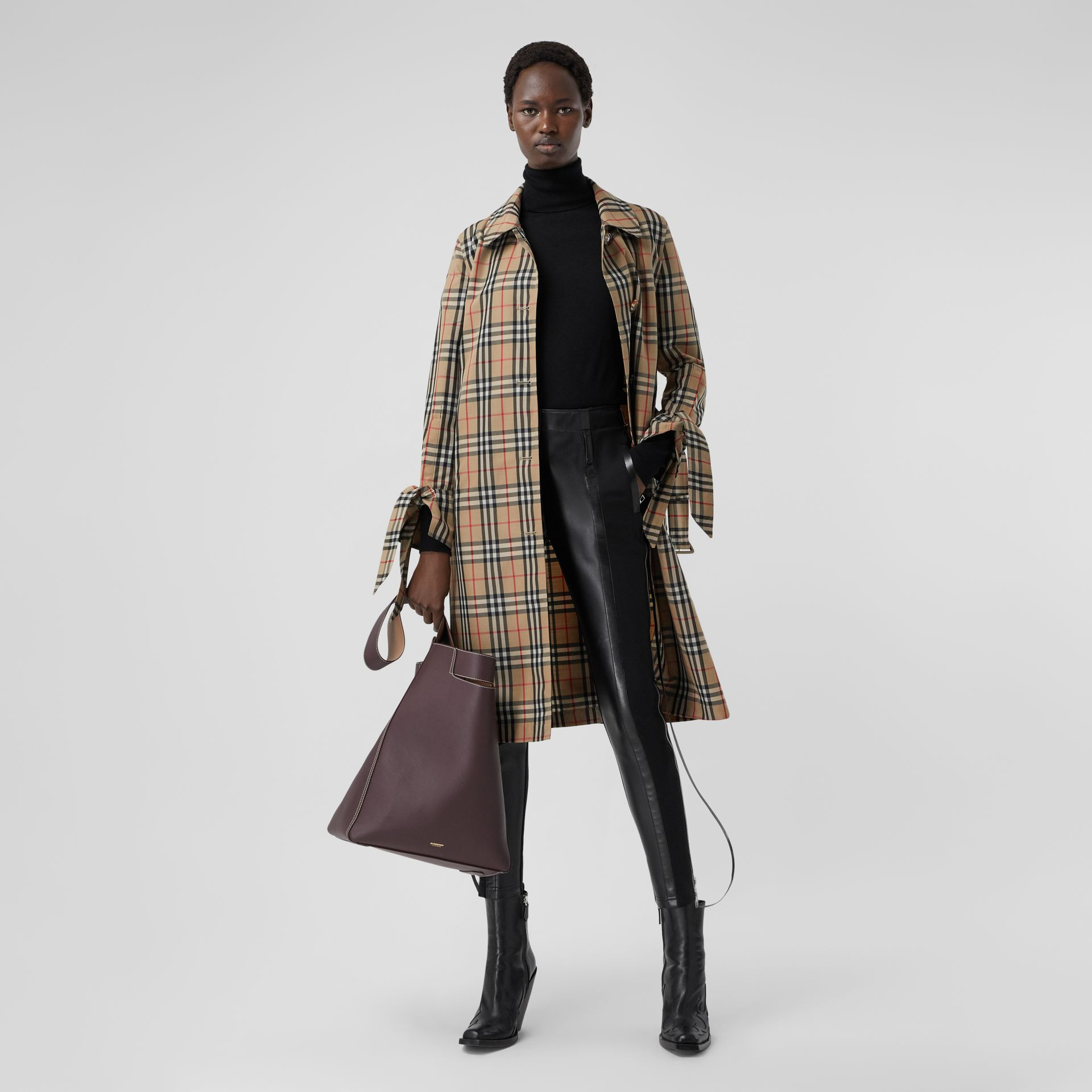 Vintage Check Recycled Polyester Car Coat - Women | Burberry Singapore - gallery image 0