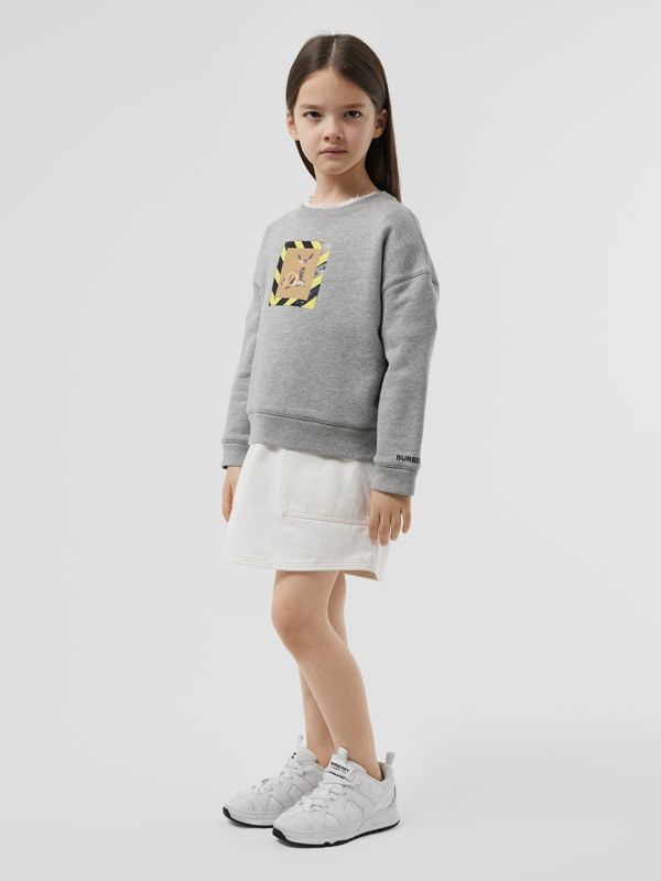 Deer Print Cotton Sweatshirt in Grey Melange | Burberry Hong Kong S.A.R - cell image 2