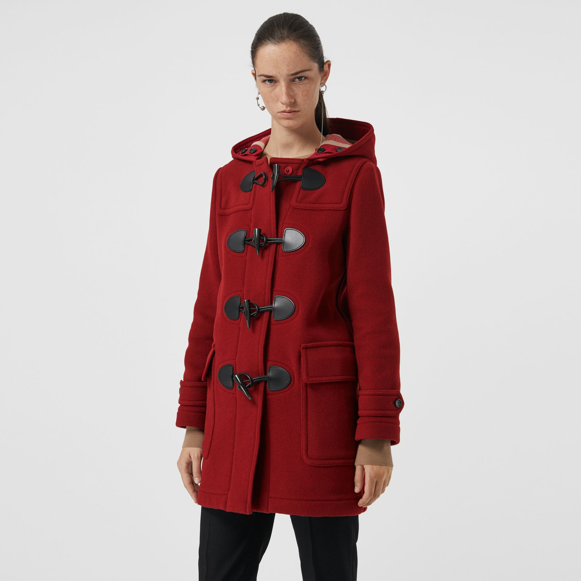 The Mersey Duffle Coat in Parade Red - Women | Burberry Canada - gallery image 5
