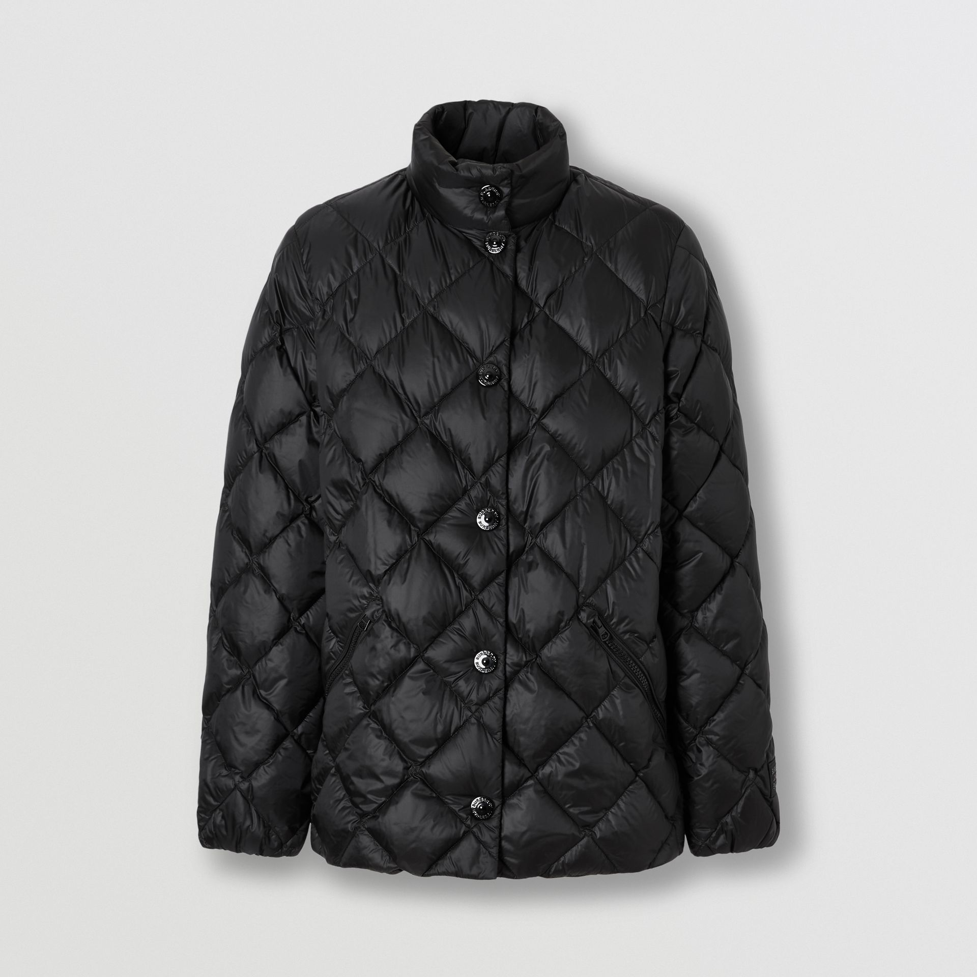 Diamond Quilted Down-filled Jacket in Black - Women | Burberry - gallery image 3