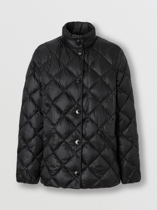Diamond Quilted Down-filled Jacket in Black - Women | Burberry - cell image 3