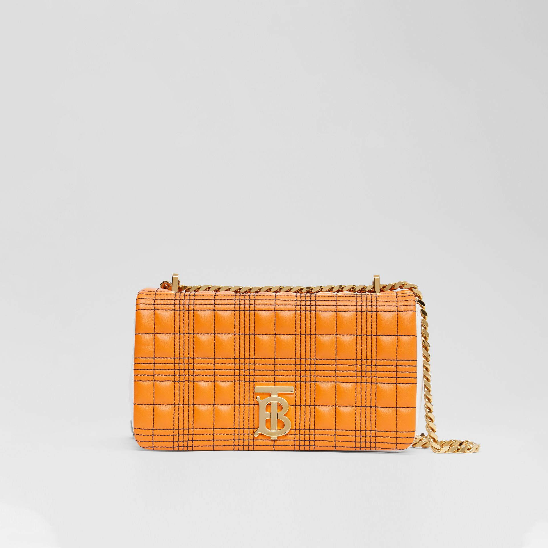 Small Quilted Tri-tone Lambskin Lola Bag in Orange/white - Women | Burberry - gallery image 0