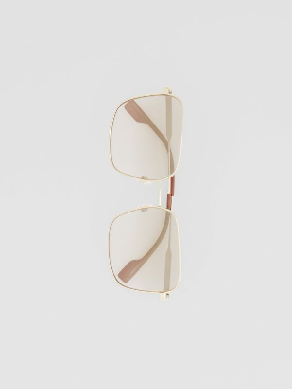 Oversized Square Frame Sunglasses in Nude Pink - Women | Burberry - cell image 3