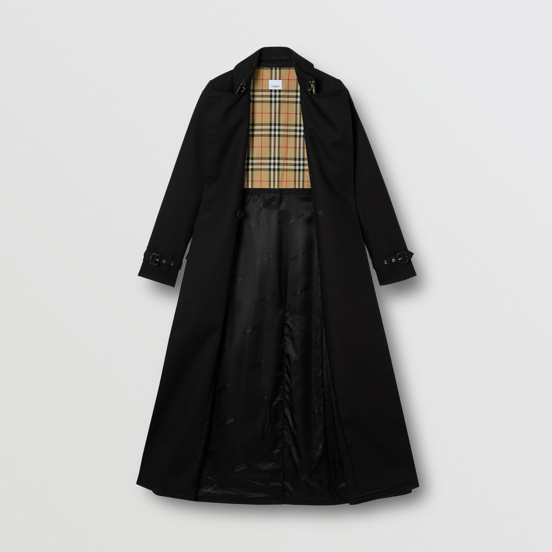 Pocket Detail Cotton Gabardine Trench Coat in Black - Women | Burberry - gallery image 7