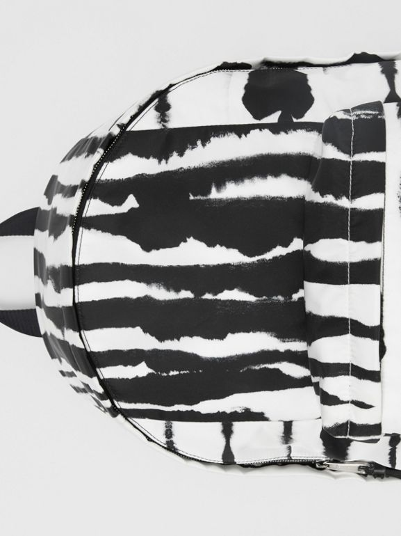 Watercolour Print ECONYL® Backpack in Black/white | Burberry - cell image 1