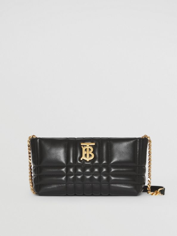 Small Quilted Lambskin Soft Lola Bag in Black