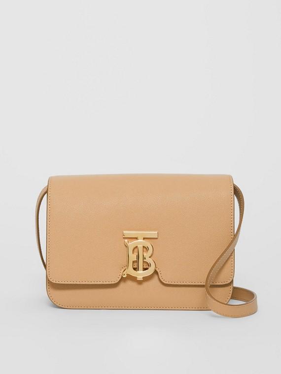 Kleine TB Bag aus genarbtem Leder (Vintage-beige)