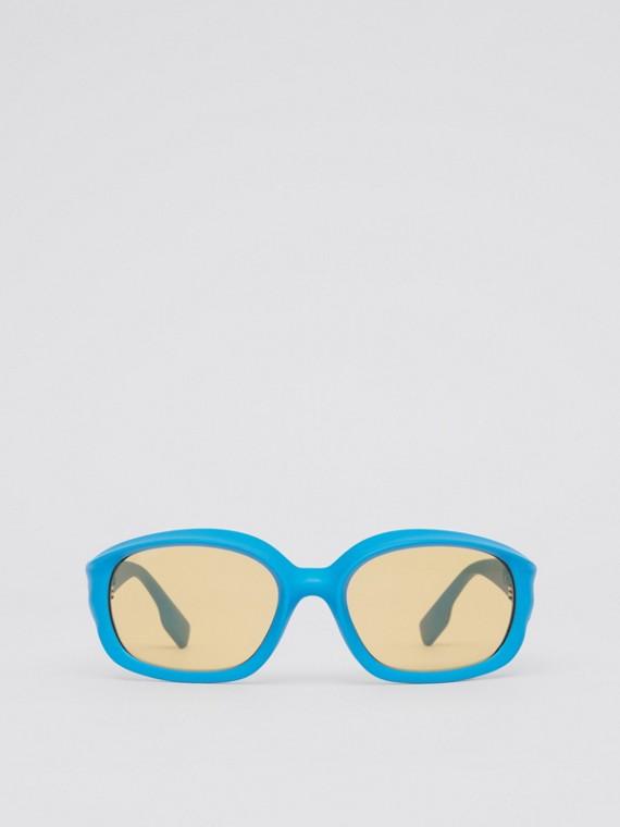 Sonnenbrille mit ovalem Gestell (Königsblau)