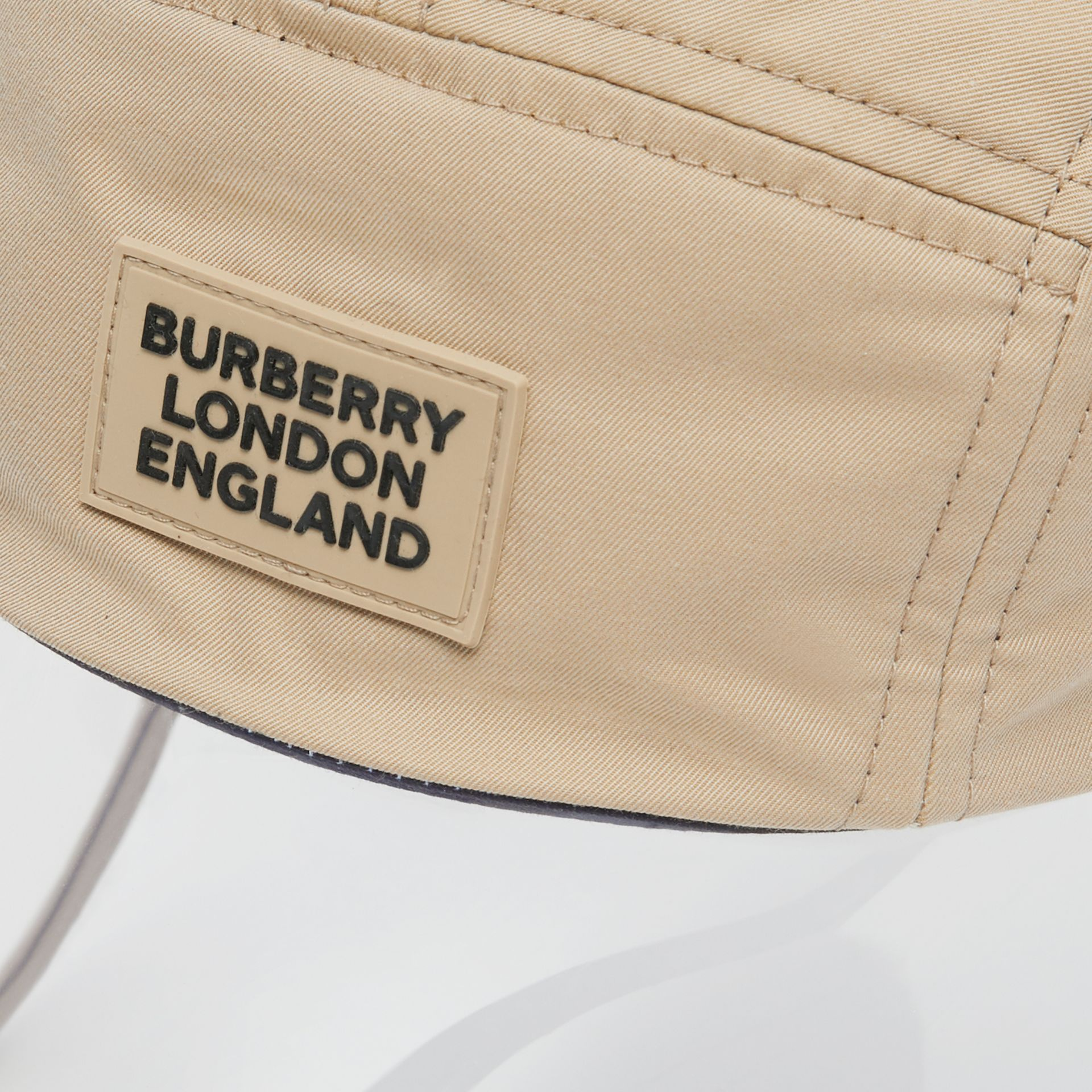 Transparent Detail Cotton Twill Bonnet Cap – Online Exclusive in Soft Fawn | Burberry - gallery image 1