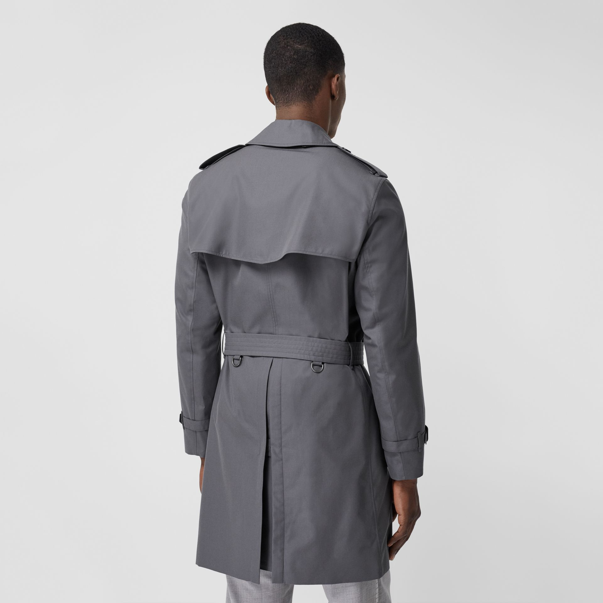 The Mid-length Chelsea Heritage Trench Coat in Grey - Men | Burberry - gallery image 2