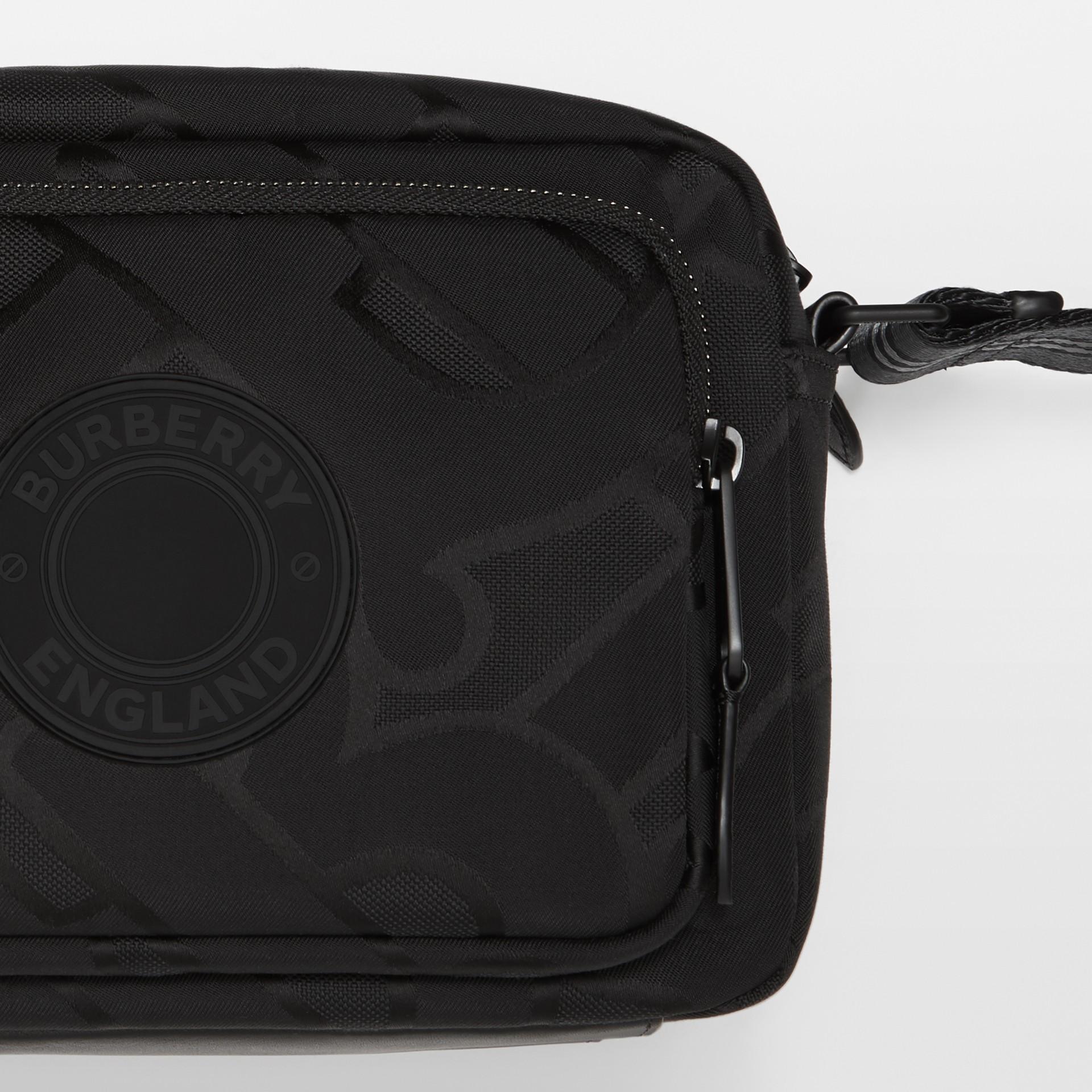 Monogram Recycled Polyester Crossbody Bag in Black - Men   Burberry United Kingdom - gallery image 1