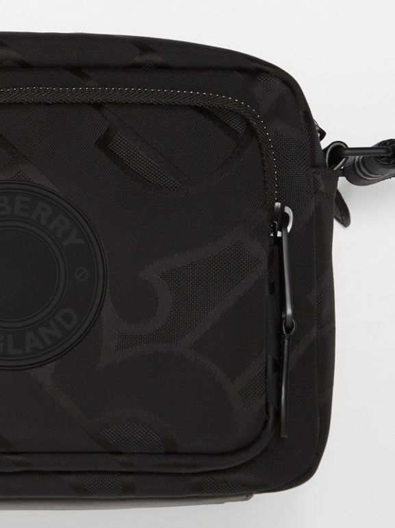 Monogram Recycled Polyester Crossbody Bag in Black - Men   Burberry United Kingdom - cell image 1